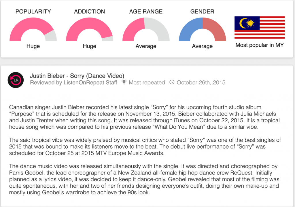 justin bieber Sorry review