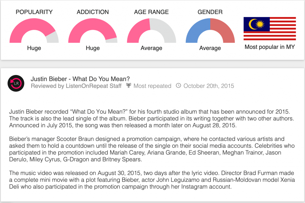 justin bieber what do you mean review