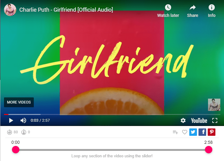 Charlie Puth - Girlfriend [Official Audio]