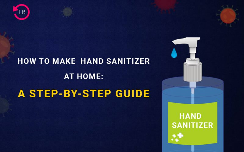 hand sanitizer at home