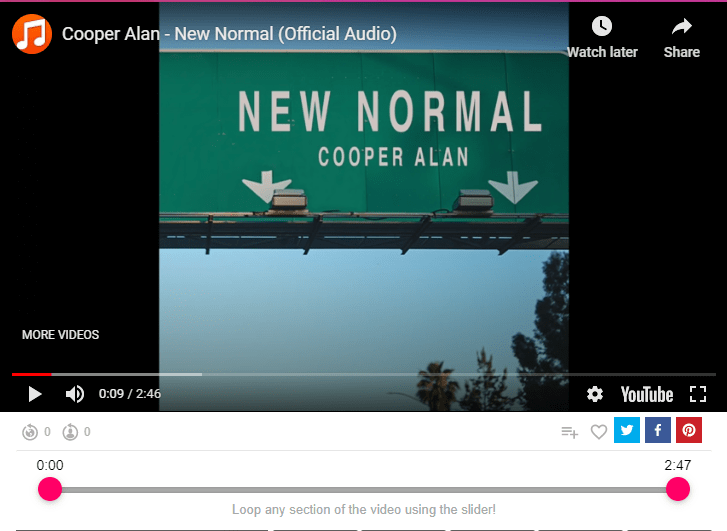 Cooper Alan - New Normal (Official Audio)