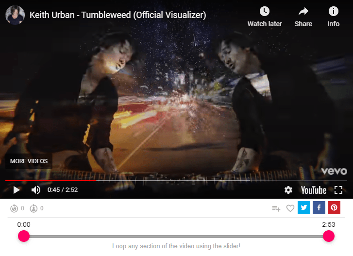 Keith Urban - Tumbleweed (Official Visualizer)