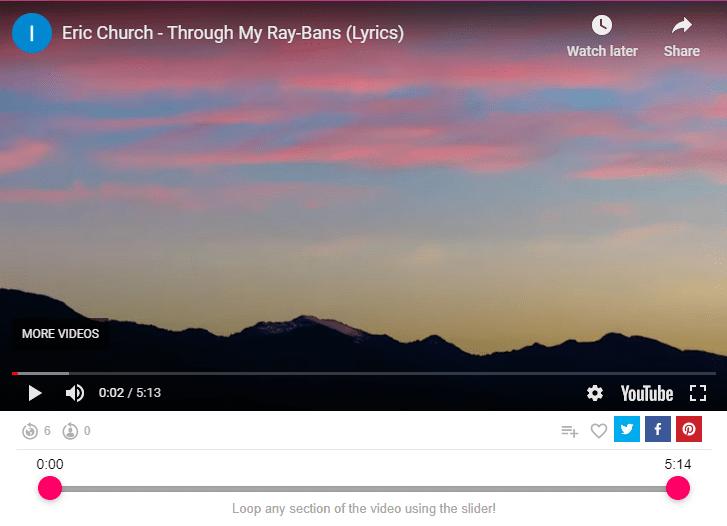 Eric Church - Through my ray bans