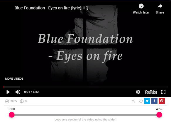 Blue Foundation – Eyes on Fire
